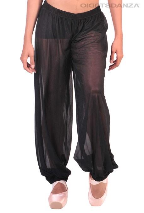 Pantaloni da danza in rete trasparente JZM24 -