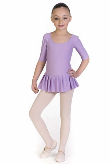 Body danza per bambina con gonnellino -