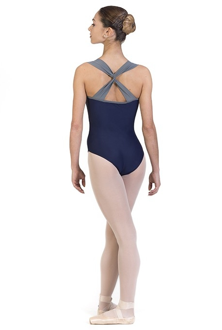 Body danza con bretelle intrecciate B436BC -