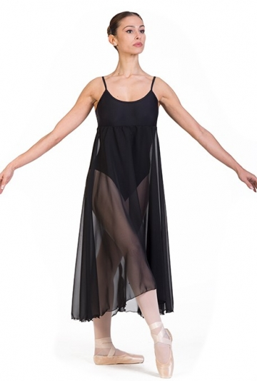 Body danza con gonna in chiffon