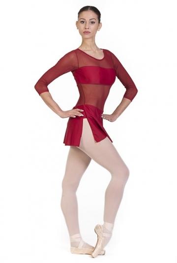 Body danza con inserti trasparenti B7014 -