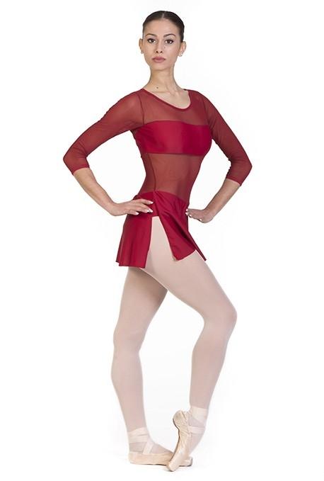 Body danza con inserti trasparenti