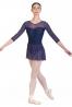 Body danza con gonna in rete elastica B7016