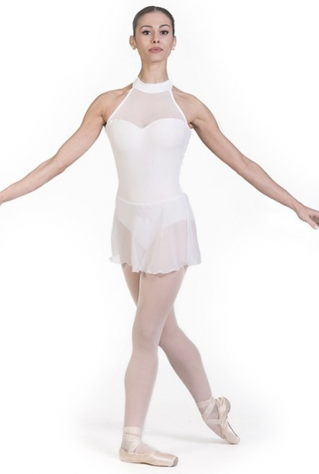 Body danza classica con gonna in chiffon B7017