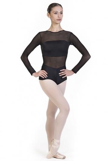 Body danza con trasparenze B7021