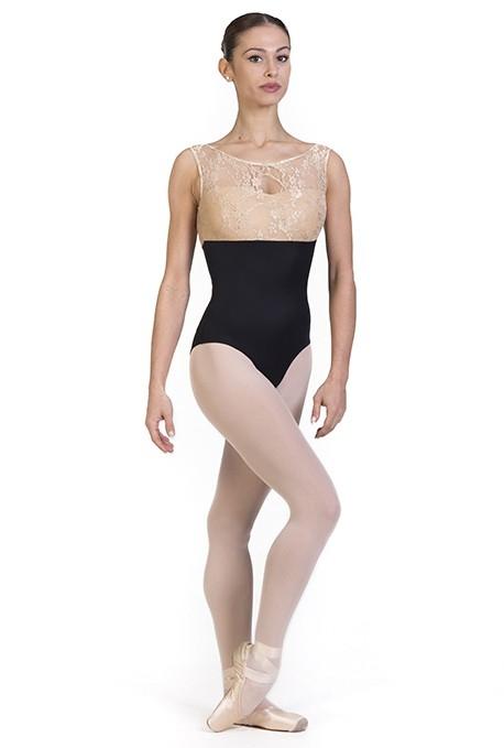 Body danza classica con scollatura in pizzo B7013