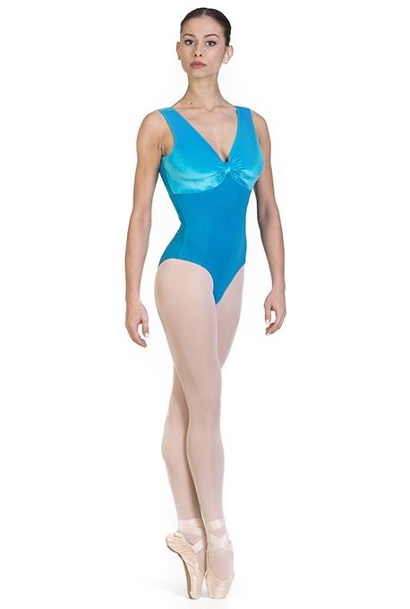 Body danza classica con inserti di velluto -