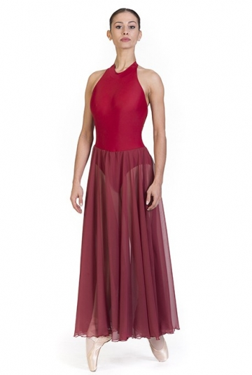 Costume danza con gonna lunga in chiffon -