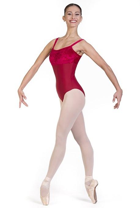 Body danza con inserti di ciniglia -