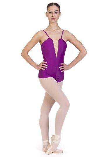 Body danza modello a pantaloncino -