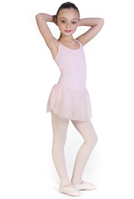 Body danza con gonna per bambine -