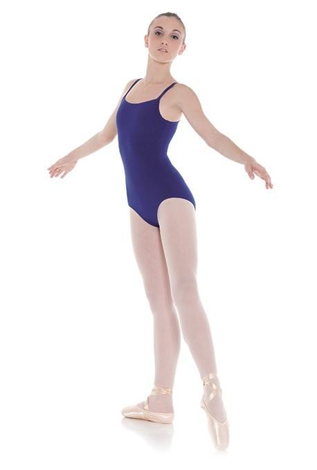 Body danza in lycra o cotone con bretelle -