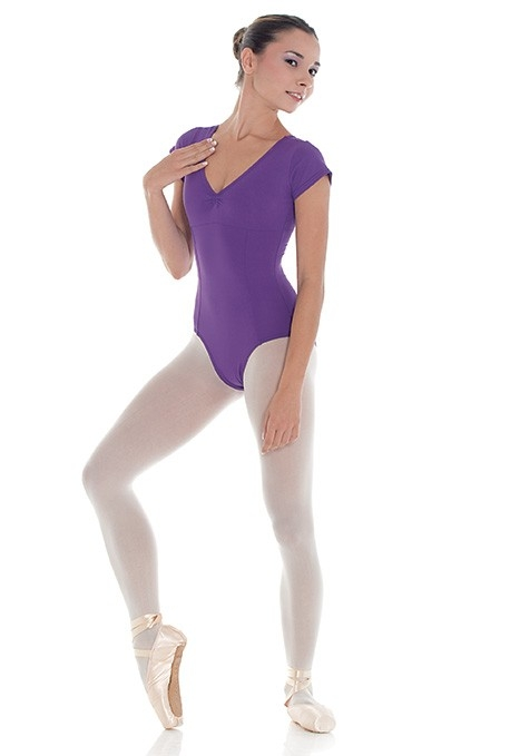 Body da danza con maniche ad aletta -