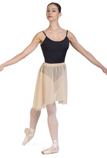 Gonnellino danza a ruota asimmetrico -
