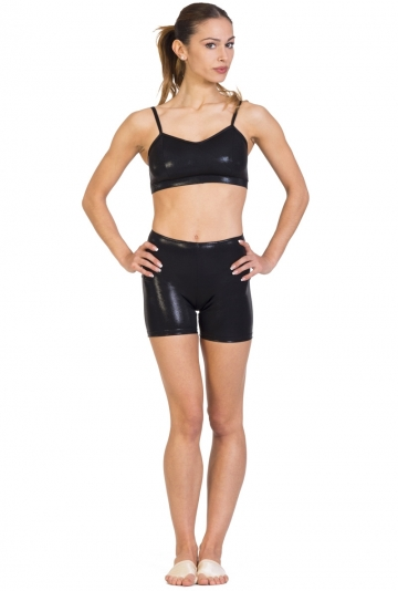Short danza in lycra laminata