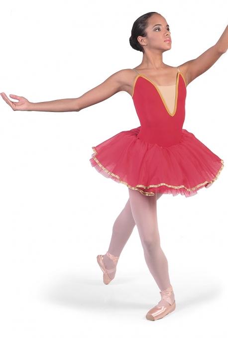 Tutu per la danza rosa d'oro C2618 -