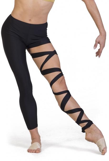Leggings danza moderna con lacci C2140P