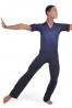 Body danza maschile con collo camicia M919